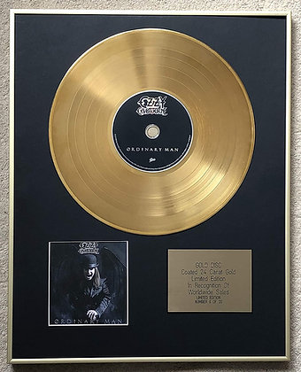 OZZY OZBOURNE - Exclusive Limited Edition 24 Carat Gold Disc - ORDINARY MAN