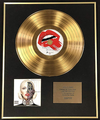 Christina Aguilera - Exclusive Limited Edition 24 Carat Gold Disc - Bionic
