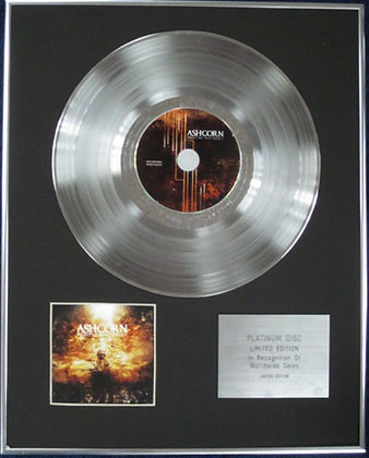 ASHCORN - Limited Edition CD Platinum Disc - VISIONS FOR OUR INSTINCT