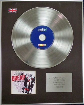 JUDGE DREAD - Limited Edition CD Platinum Disc - THE WINKLE MAN