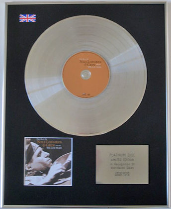 NILS LOFGREN - CD Platinum Disc - THE BEST OF The A & M YEARS