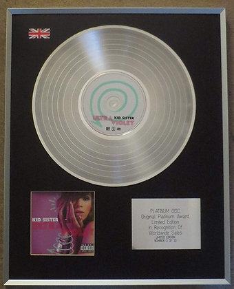 Kid Sister - Limited Edition CD Platinum LP Disc - Ultraviolet