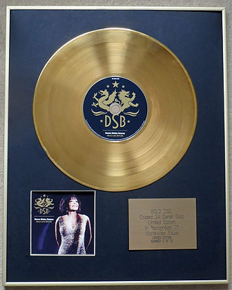DAME SHIRLEY BASSEY - Exclusive Limited Edition 24 Carat Gold Disc - HELLO LIKE