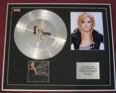 KELLY CLARKSON- CD Platinum Disc+Photo-BECAUSE OF YOU