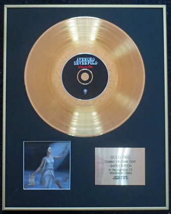 Avenged Sevenfold - Exclusive Edition 24 Carat Gold Disc - Waking the Fallen
