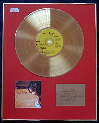 Norah Jones - Limited Edition CD 24 Carat Gold Coated LP Disc - Feels Like Home