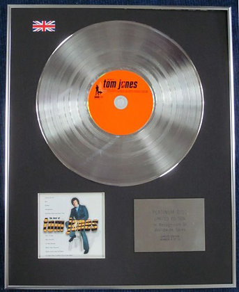 TOM JONES - Limited Edition CD Platinum Disc - THE BEST OF