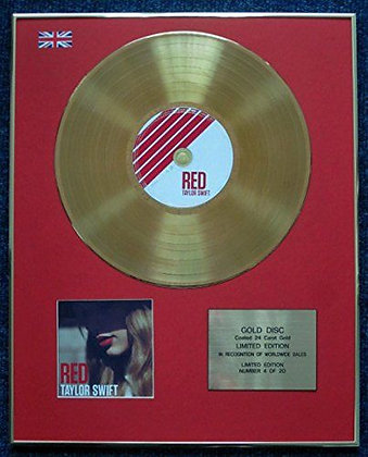 Taylor Swift - Limited Edition CD 24 Carat Gold Coated LP Disc - Red