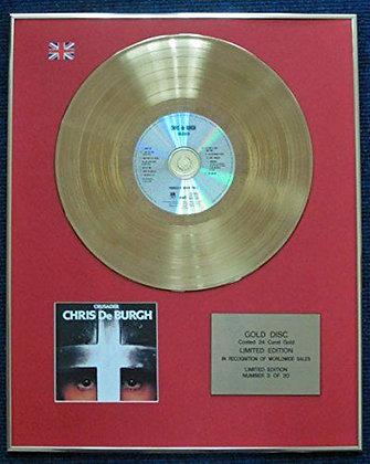 Chris De Burgh - Limited Edition CD 24 Carat Gold Coated LP Disc - Crusader