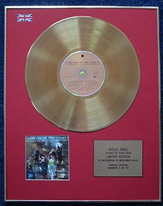 Beautiful South - 24 Carat Gold Coated LP Disc - Carry On Up The Charts