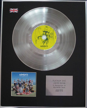 THE WOMBATS - Limited Edition CD Platinum Disc - THIS MODERN GLITCH
