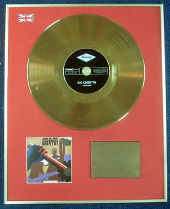 BIG CONTRY - Limited Edition CD 24 Carat Gold Coated LP Disc - STEELTOWN