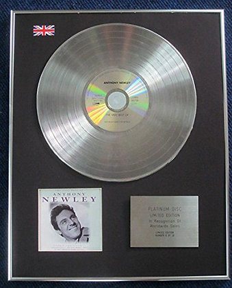 Anthony Newley - Limited Edition CD Platinum LP Disc - Very Best of