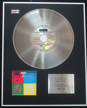 Queen - Limited Edition CD Platinum LP Disc - Hot Space