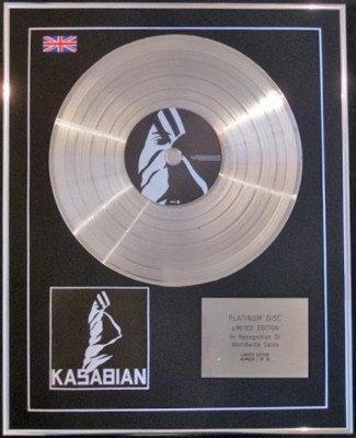 "KASABIAN - Ltd Edtn CD Platinum Disc- ""KASABIAN"""