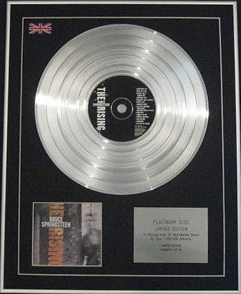 BRUCE SPRINGSTEEN - Ltd CD Platinum Disc - THE RISING