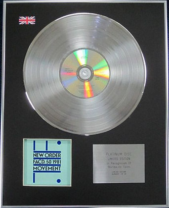 NEW ORDER - Limited Edition CD Platinum Disc - MOVEMENT