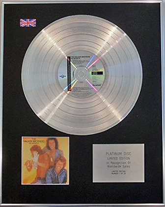WALKER BROTHERS - Limited Edition CD Platinum Disc - NO REGRETS