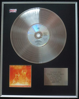 VANGELIS - Limited Edition CD Platinum LP Disc - HEAVEN AND HELL