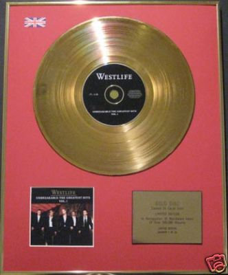 WESTLIFE  -Limited Edition 24 Carat CD Gold Disc - UNBREAKABLE (HITS)