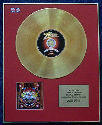 The Zutons - Limited Edition CD 24 Carat Gold Coated LP Disc - Tired of…