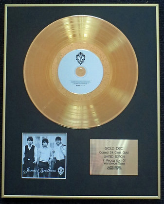 Jonas Brothers - Exclusive Limited Edition 24 Carat Gold Disc - 'Jonas Brothers'