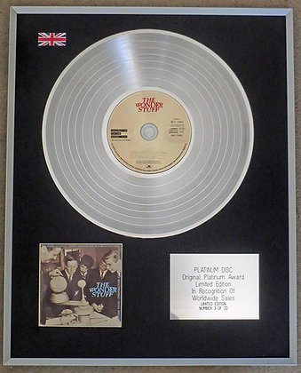 THE WONDER STUFF - Limited Edition CD Platinum LP Disc - CONSTRUCTION FOR THE MO
