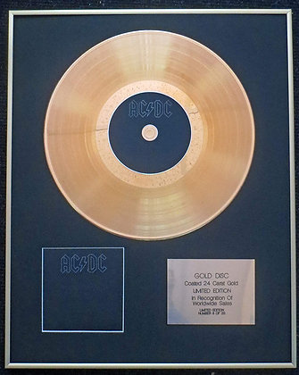 ACDC - Exclusive Limited Edition 24 Carat Gold Disc - Back in Black