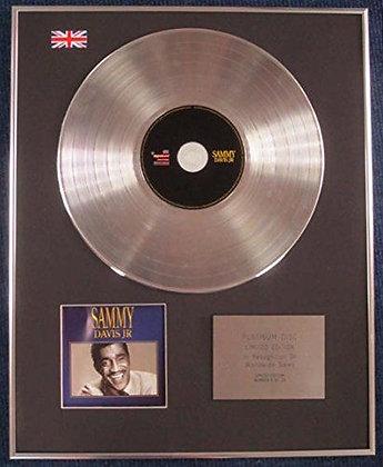 SAMMY DAVIS JR - Limited Edition CD Platinum LP Disc