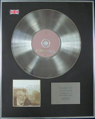 KENNY ROGERS - Limited Edition CD Platinum Disc - LOVE SONGS
