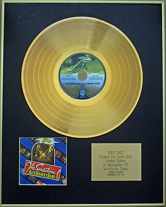 ALEX HARVEY BAND - Exclusive Limited Edition 24 Carat Gold Disc - LIVE