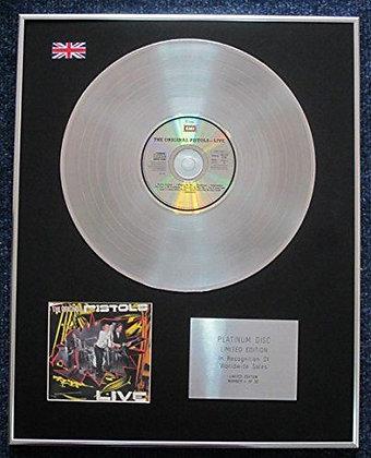 Sex Pistols - Limited Edition CD Platinum LP Disc - Sex Pistols Live