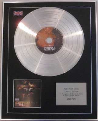 PITBULL - Limited Edition CD Platinum Disc- PLANET PIT
