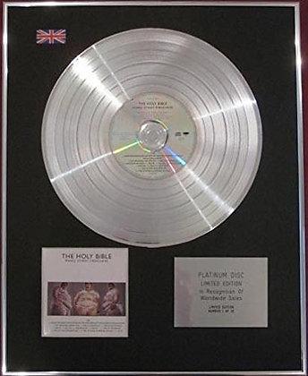 MANIC STREET PREACHERS - CD Platinum Disc - THE HOLY BIBLE