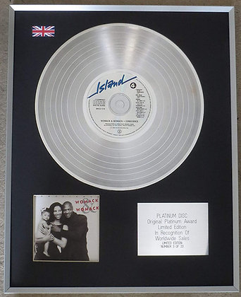 WOMACK & WOMACK - Limited Edition CD Platinum LP Disc -CONSCIENCE