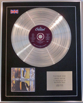 THE DANDY WARHOLS - Limited Edition CD Platinum Disc - COME DOWN