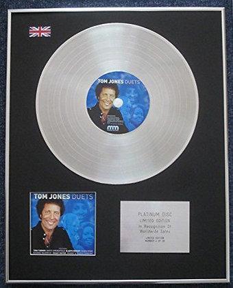Tom Jones - Limited Edition CD Platinum LP Disc - Duets