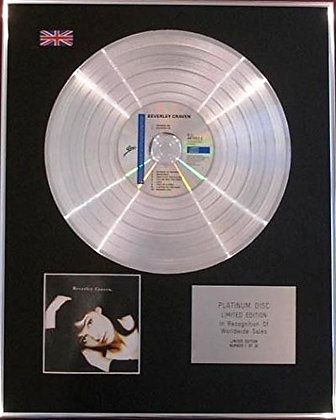 BEVERLEY CRAVEN - CD Platinum Disc - BEVERLEY CRAVEN
