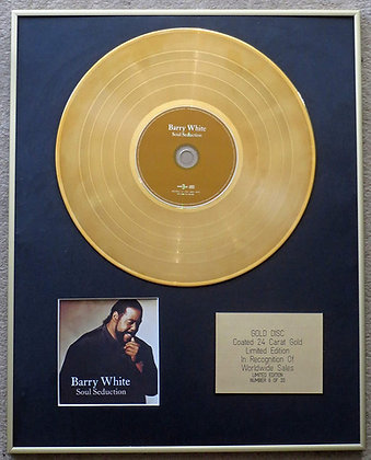 Barry White - Limited Edition CD 24 Carat Gold Coated LP Disc - Heart and Soul
