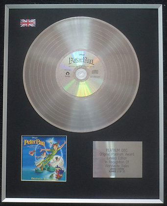 Peter Pan - Limited Edition CD Platinum LP Disc - Original Disney Soundtrack