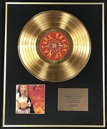 Anastacia - Exclusive Limited Edition 24 Carat Gold Disc - Freak Of Nature