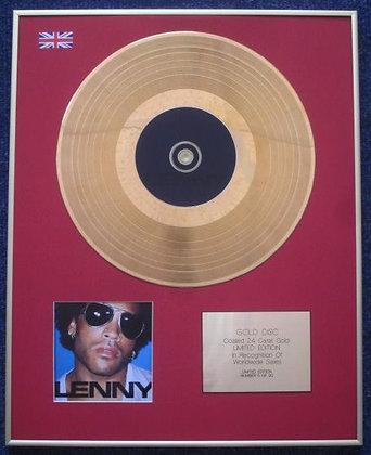 LENNY KRAVITZ - Limited Edition CD 24 Carat Gold Coated LP Disc - LENNY