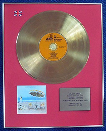 Neil Young - Limited Edition CD 24 Carat Gold Coated LP Disc - On the Beach