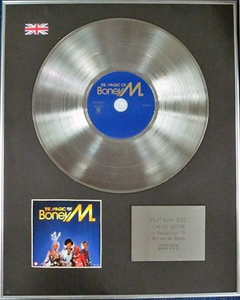 BONEY M - Limited Edition CD Platinum Disc - THE MAGIC OF