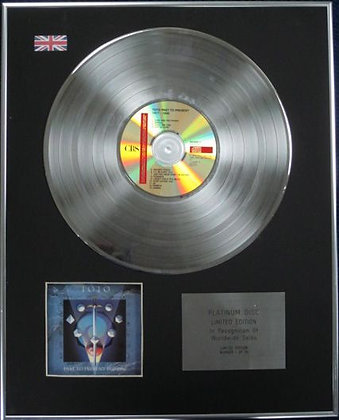 TOTO - Limited Edition CD Platinum Disc - PAST TO PRESENT