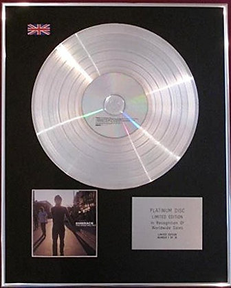 EMBRACE - CD Platinum Disc - THE GOOD WILL OUT