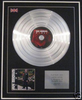 IAN BROWN - Ltd Edition CD Platinum Disc - MY WAY