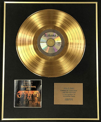 Alabama 3 - Exclusive Limited Edition 24 Carat Gold Disc - Woke Up This Morning