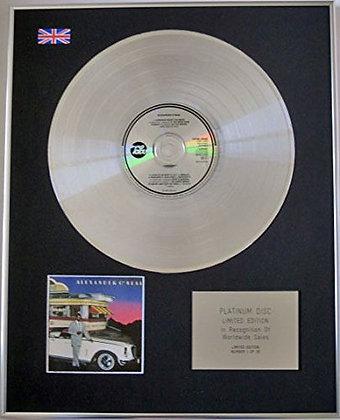 ALEXANDER O'NEAL - CD Platinum Disc - ALEXANDER O'NEIL