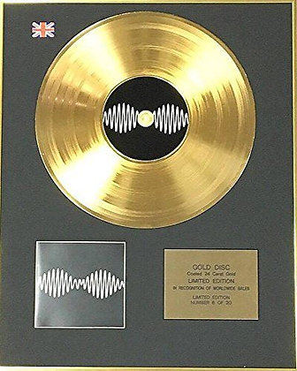 Arctic Monkeys - Exclusive Limited Edition 24 Carat Gold Disc - AM